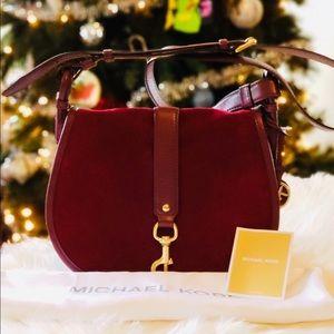 Michael Kors Maroon Jamie Crossbody Bag
